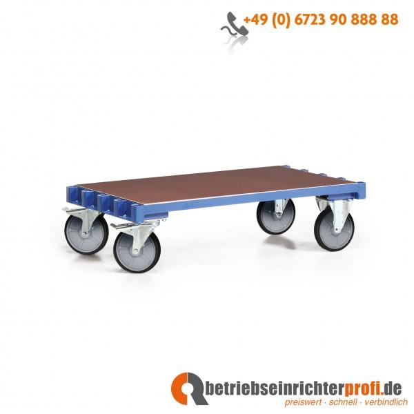 Rotauro Plattenwagen Basismodell, Ladefläche 800 x 600 mm, für max. 5 Bügel, Traglast 600 kg