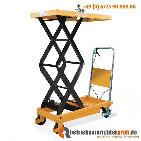 Taurolifter Hubtischwagen mit Doppelschere, Plattform 910 × 500 mm, Traglast 350 kg