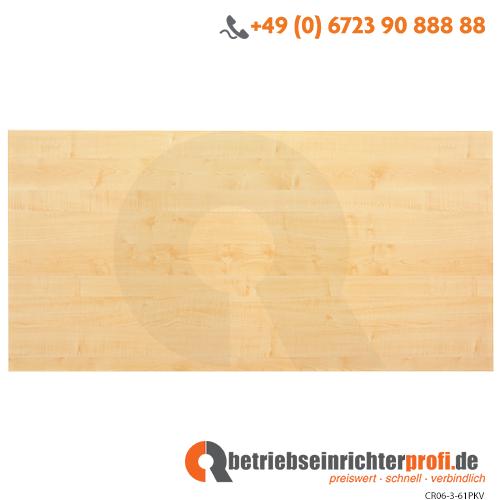 Tischplatte 160x80cm mit Systembohrung Ahorn