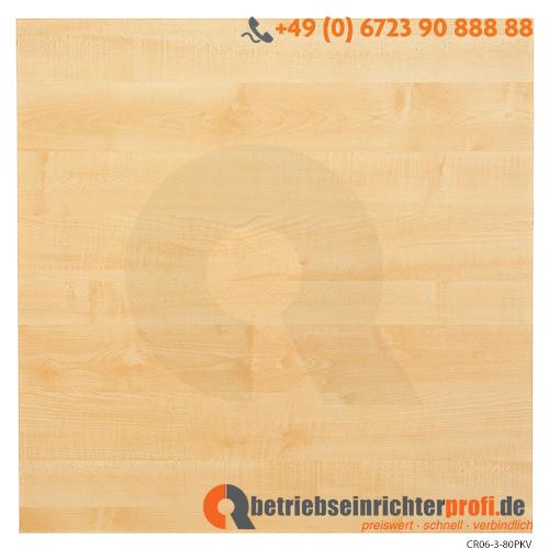 Tischplatte 80x80cm mit Systembohrung Ahorn