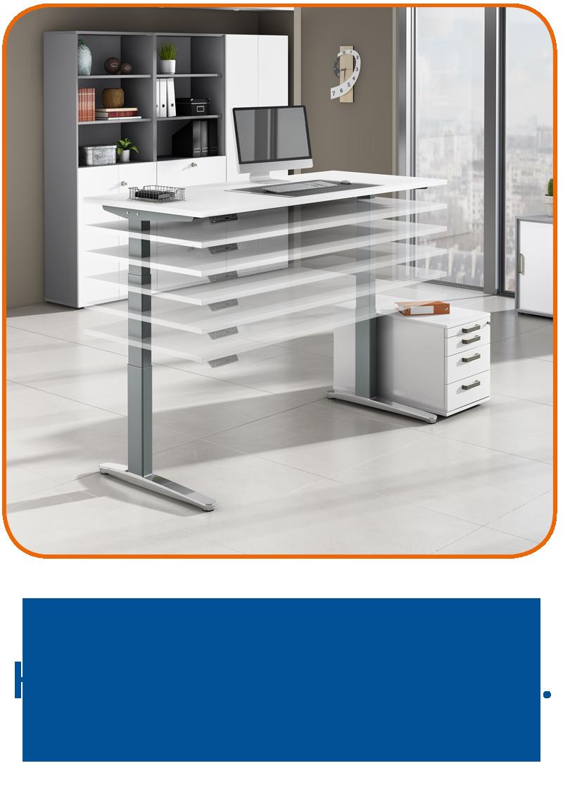 Elektrisch höhenverstellbare Schreibtische