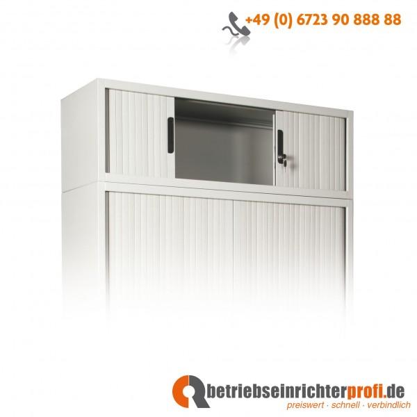 Taurotrade Aufsatzschrank mit Rollladen, ohne Fachboden, 450 x 1200 x 460 mm