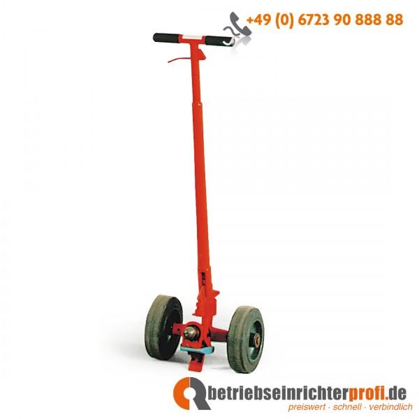 Rotauro Hebelroller mit Bremse, für Rollplatten bis 1000 kg, Lackierung: RAL 2002, Blutorange
