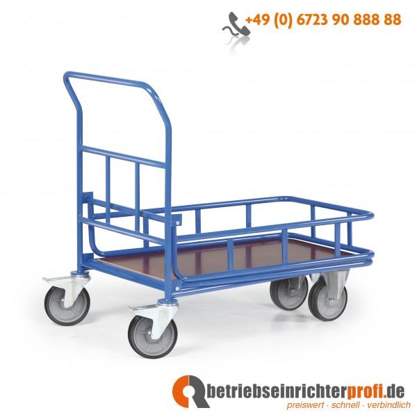 Rotauro CC-Wagen mit 1 Ladefläche mit Geländer Ladefläche 1000 × 700 mm, Traglast 300 kg