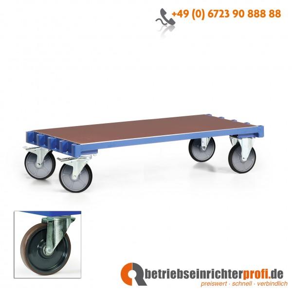 Rotauro Plattenwagen Basismodell, Ladefläche 1500 x 700 mm, für max. 5 Bügel, Traglast 600 kg