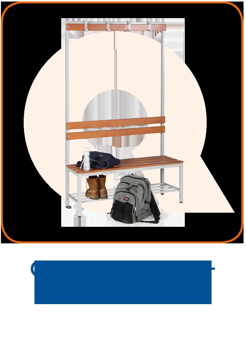 Garderobenbänke