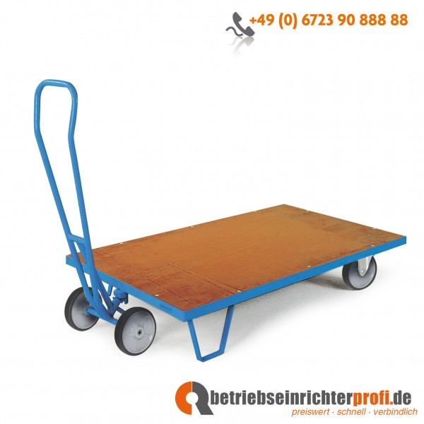 Rotauro Rollplatte, Ladefläche 1250 × 800 mm, ohne Seitenwände, Traglast 500 kg